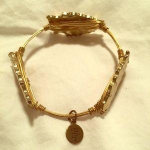 Bourbon & Bowties stone bracelet- Gold arrowhead